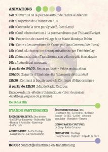 Programme de la journée de la transition