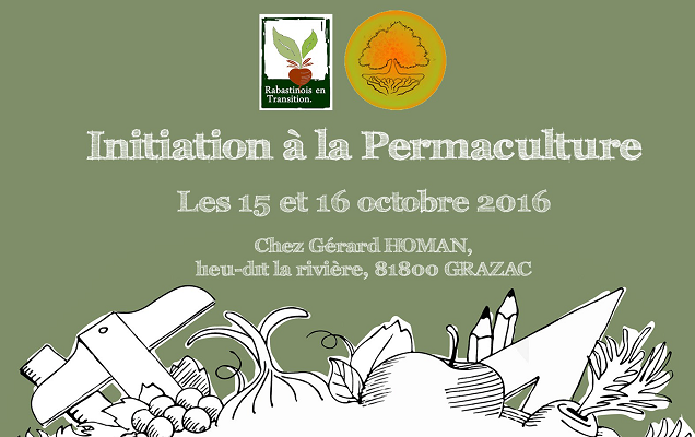 15/10/2016 – Stage « Initiation à la permaculture » (2 jours)