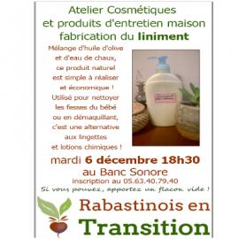 06/12/2016 – Atelier Cosmétiques – Fabrication du liniment
