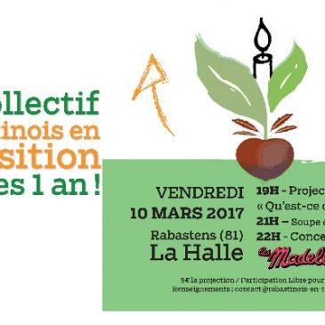 10/03/2017 – Soirée Anniversaire : «Qu'est ce qu'on attend?» + concert «Les Madeleines»